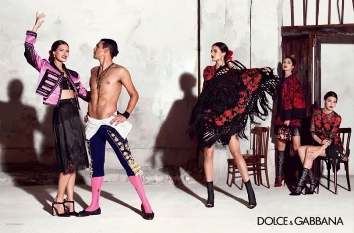 aac4f55d80a5 ... mgluxurynews Dolce   Gabbana 2015 summer Ad Campaign Manzanares ...