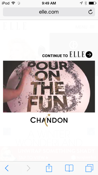 mgluxurynews Elle video ad Pour On The Fun