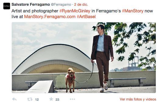 mgluxurynews Ferragamo Man's Story RyanMcGinley Twitter