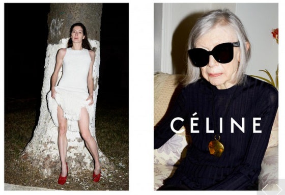 mgluxurynews Céline 2015 advertising campaign staring Joan Didion Fashion Writer