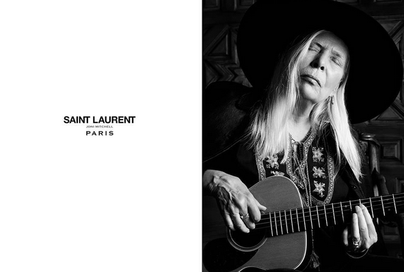 mgluxurynews mgluxurynews Joni Michell Hedi Slimane Saint Laurent 2015 ad campaign