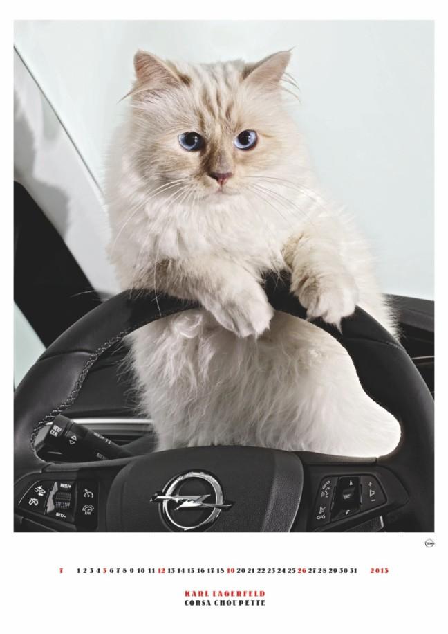 mgluxurynews Choupette Opel Corsa Calendar