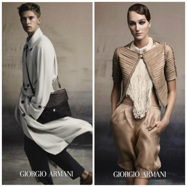 mgluxurynews Giorgio Armani ss15 collections