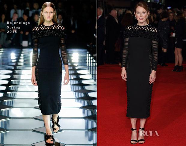 mgluxurynews Juliane Moore dress in Balenciaga