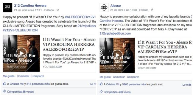 mgluxurynews Alesso for 212VIP Carolina Herrera Facebook