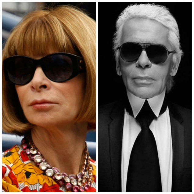 mgluxurynews Anna Wintour vs. Karl Lagerfeld