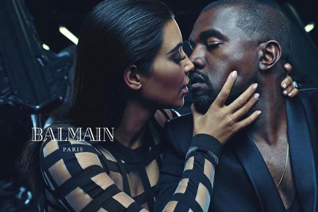 mgluxurynews Balmain Kim Kardashian and Kanye Wast