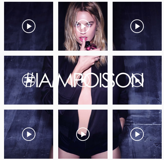 mgluxurynews Dior Instagram Wall with Poison Girl